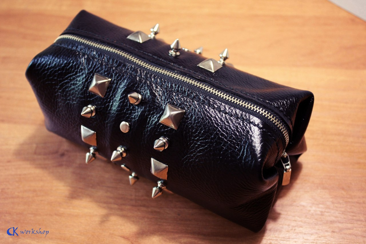 Picture of Leather Makeup Bag for Biker