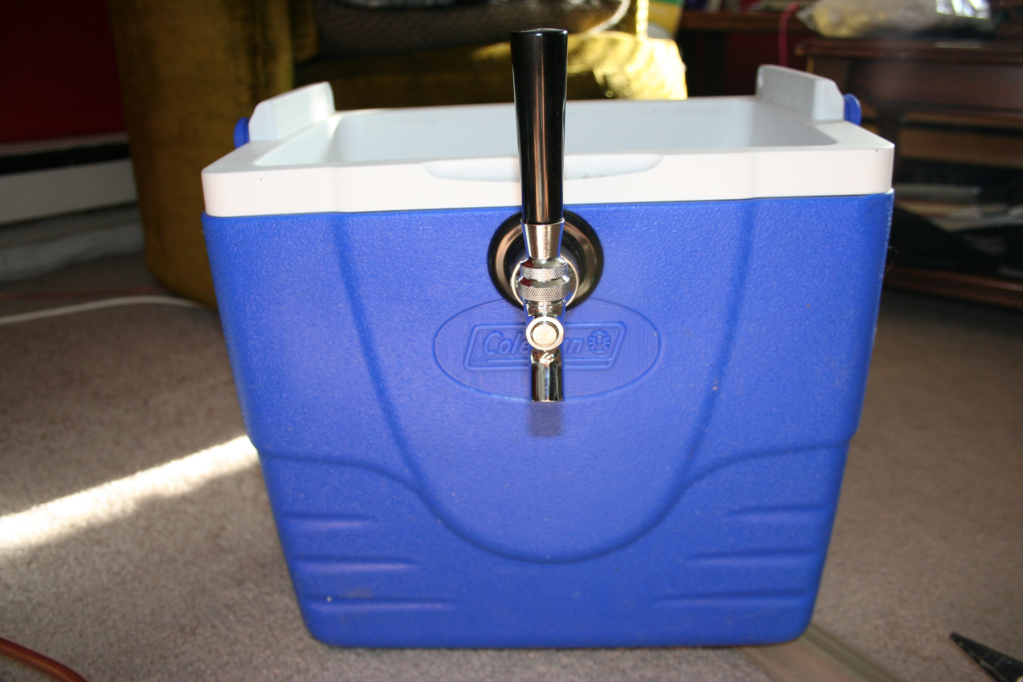 Picture of Drill Out the Cooler for the Tap.