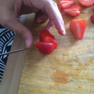 Adding the Strawberries on Top