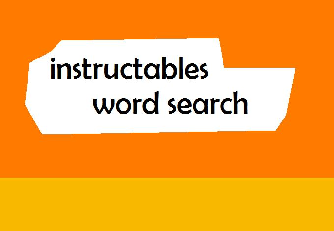 Picture of Instructables Word Search !