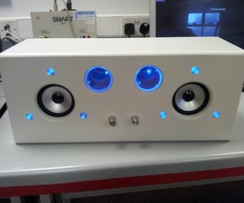 Sound reactive 2.1 audio amplifier (flashy ipod dock)