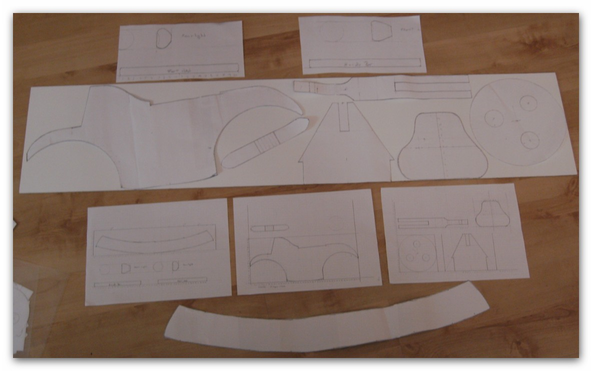 Picture of Templates and Initial Model