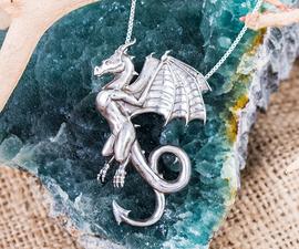Dragon Wyvern Silver Pendant