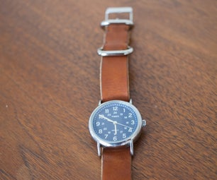 Simple Leather Watch Band