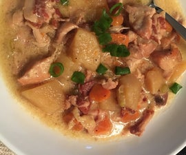 Gluten Free Chicken, Bacon, and Vegetable Soup