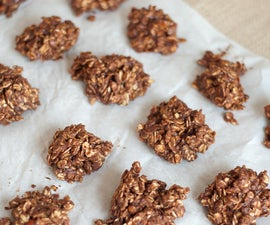Chocolate & Coffee No-Bake Oatmeal Cookies