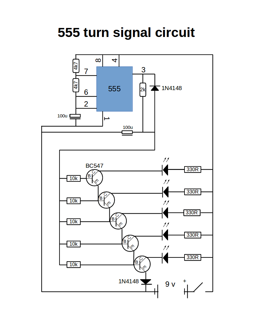 Picture of Turn Signal Using 555 Timer