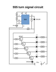 Turn Signal Using 555 Timer