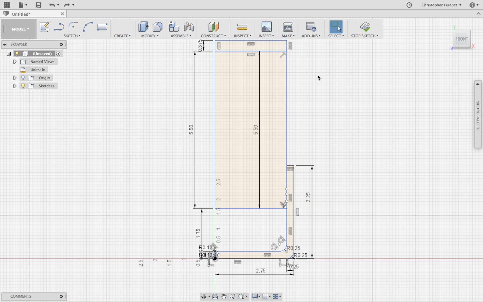 Picture of Sketch in Fusion 360
