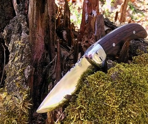 DIY Folding Knife With Button Lock