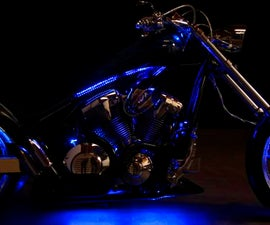 Install LED lighting strips on Motorcycle