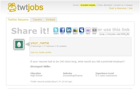 Task Four: Tweeting Resume to a Company