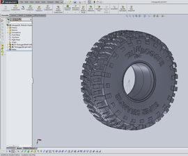 CAD model a tire in SolidWorks