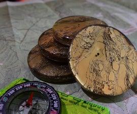 Layered Topographic Coasters