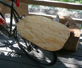 Exceedingly simple and easy bike rack flat-bed