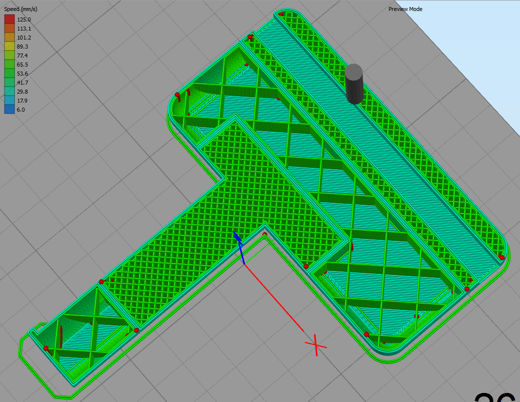 Picture of Change Infill Density in a Specific Section on a 3D Model for 3D Printing.