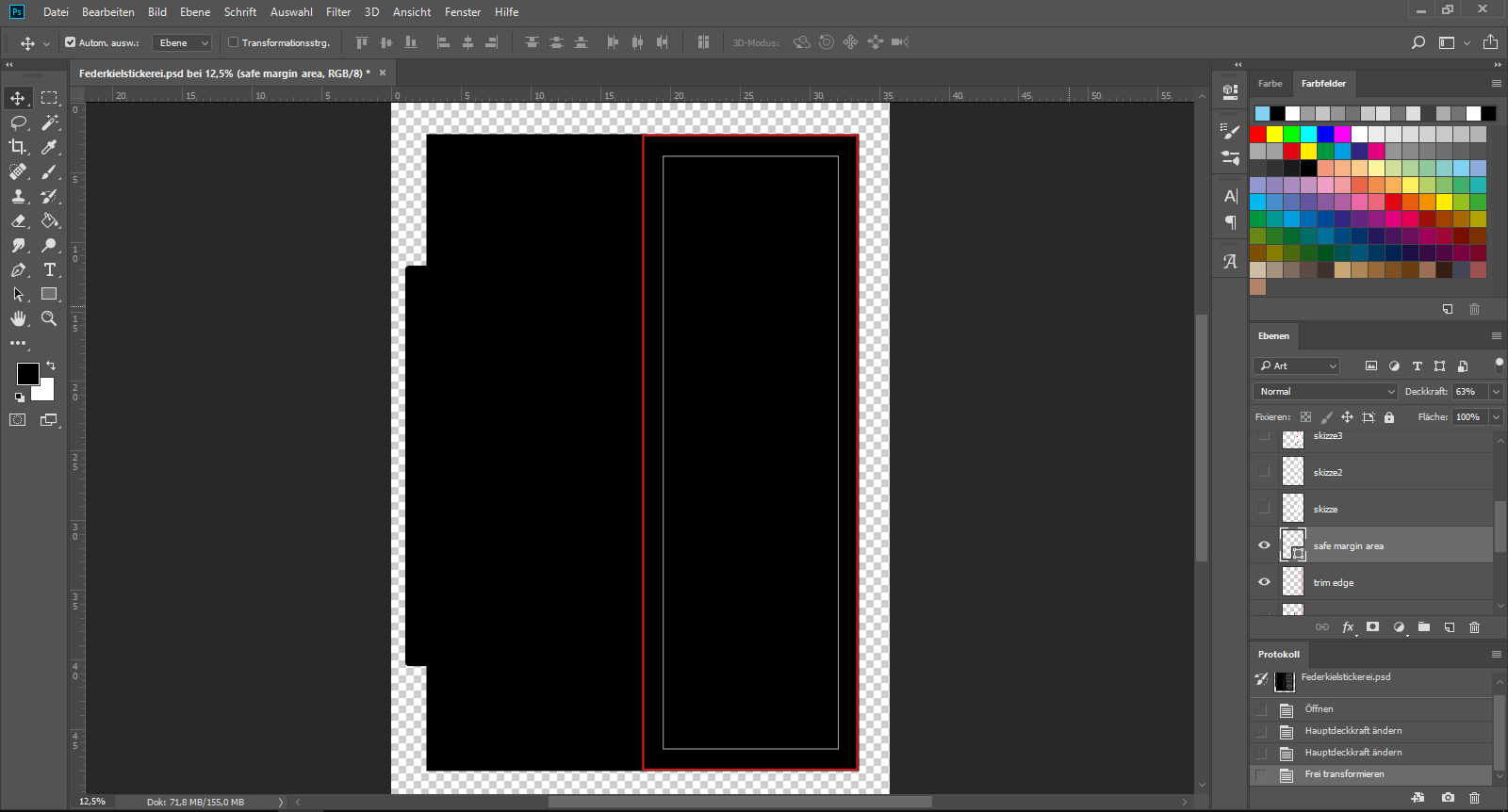 Picture of Designing the Bookmark in PS