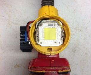 8000 Lumen LED Dewalt Flashlight Mod