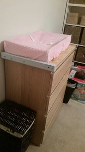 Removable Baby Changing Attachment for Ikea Malm Chest