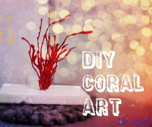 DIY Coral Art From Hot Glue