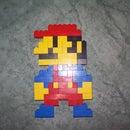 8-bit style LEGO Mario