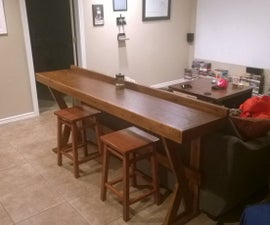 Easy Behind the Couch Bar Top for Movie Night