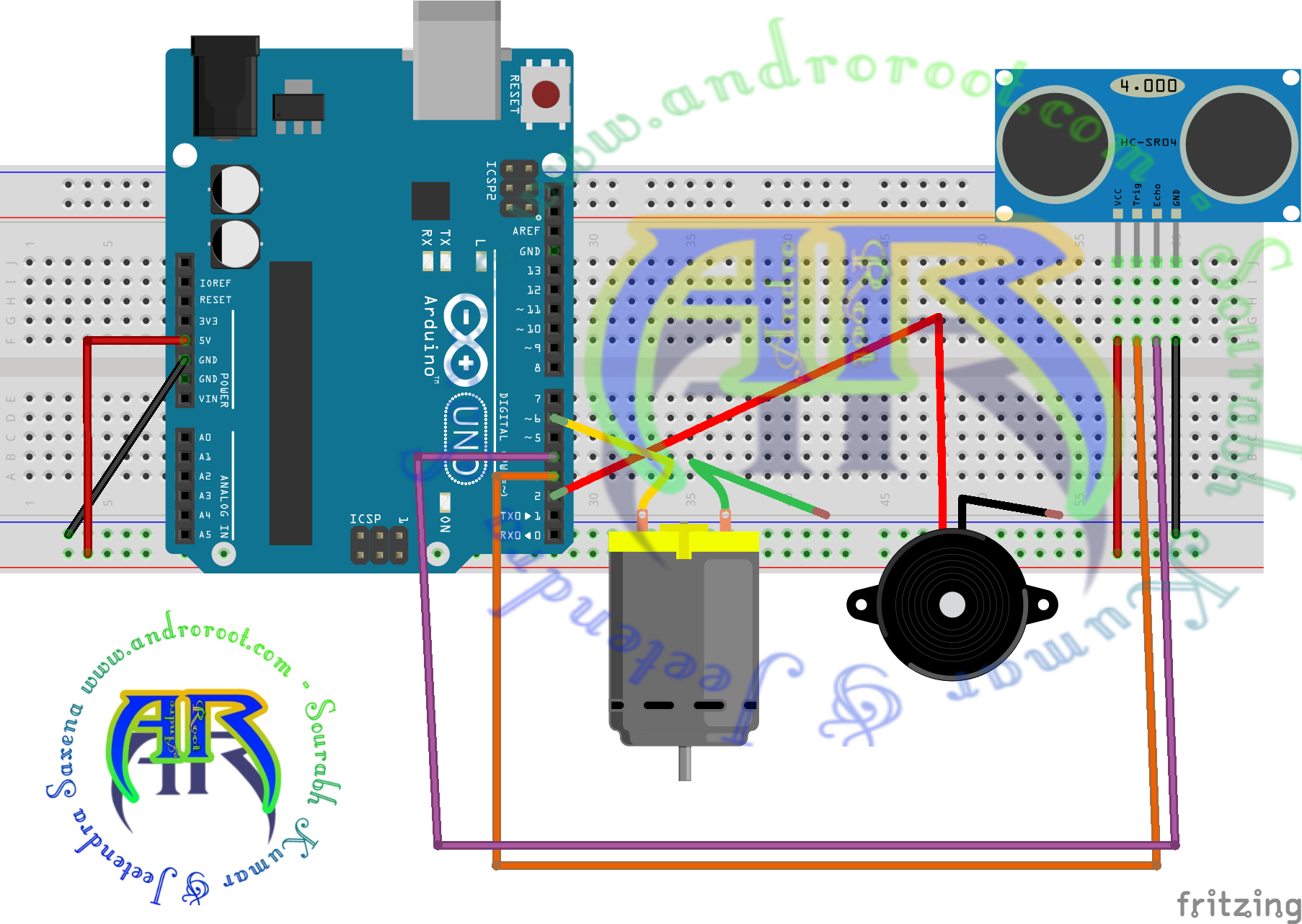 Picture of Circuit Diagram:- With Arduino