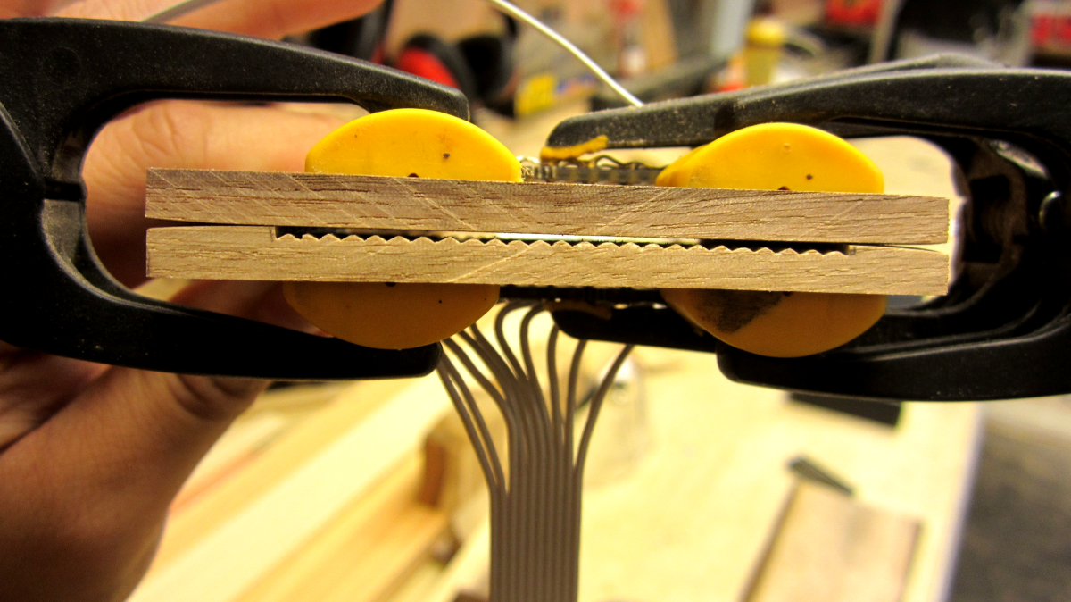 Picture of Set Up the Wood Piece for the Photoresistors