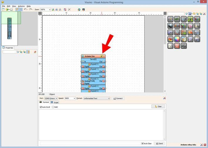 Picture of Start Visuino, and Select the Arduino UNO Board Type