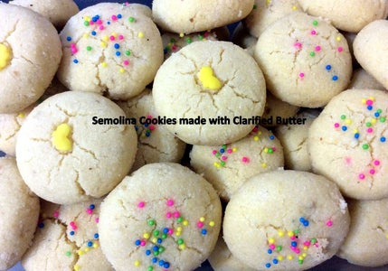 Semolina Cookies Made With Butter / Clarified Butter