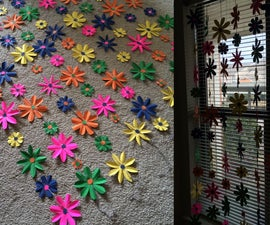 Colorful Paper Flower Curtain