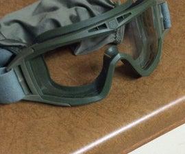 Airsoft goggle less fog mod