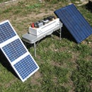 Solar generator -- emergency power supply -- portable camp power