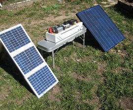 Solar generator -- emergency power supply -- portable camp power