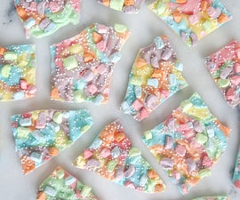 "Rainbow ""Unicorn"" Chocolate Bark"