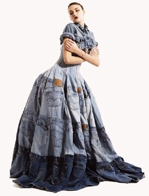 Picture of Recycled Denim Dress