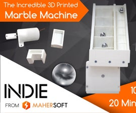 3D Printed Marble Machine by Maher Soft