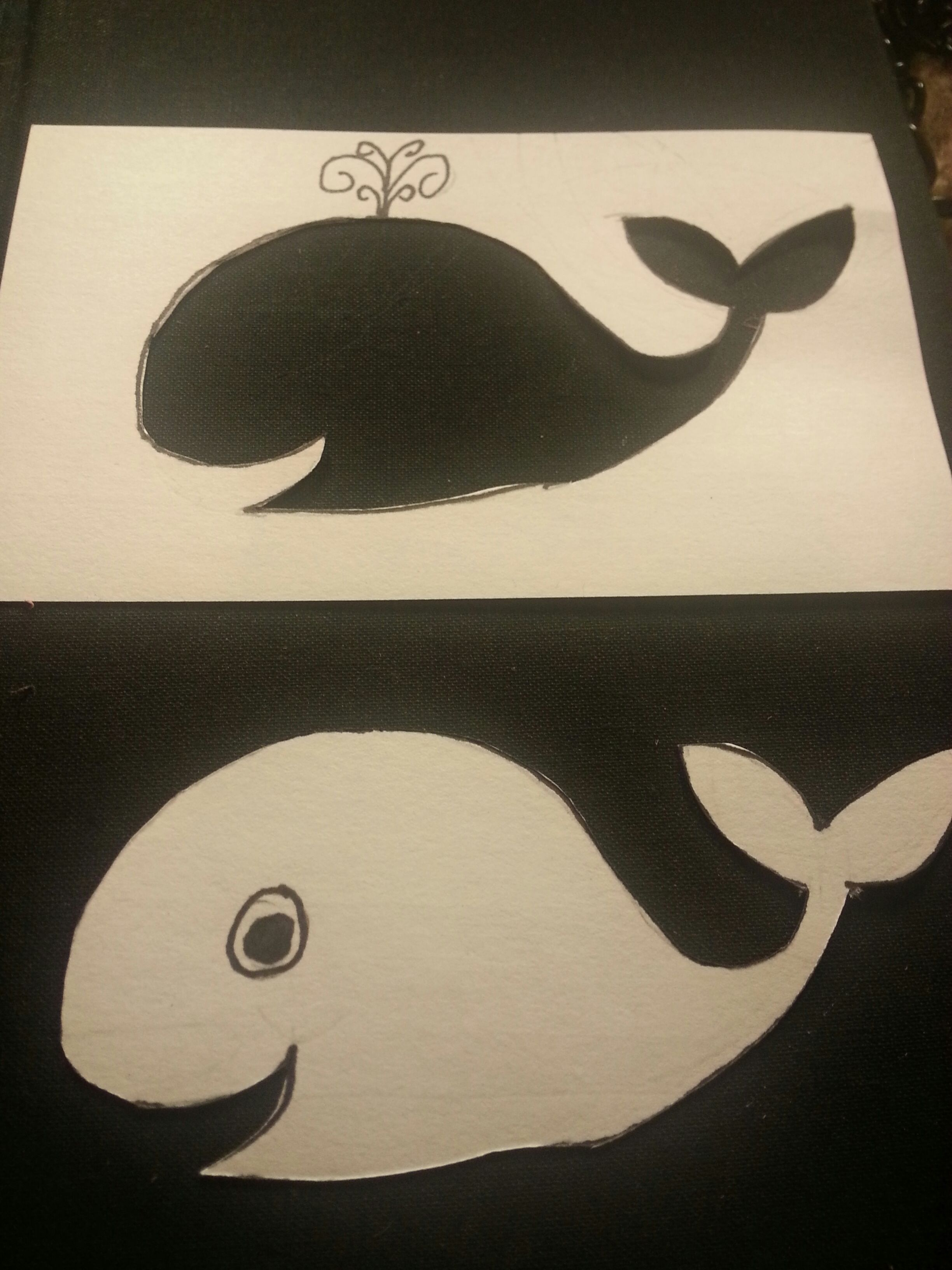 Picture of Note Card Whales