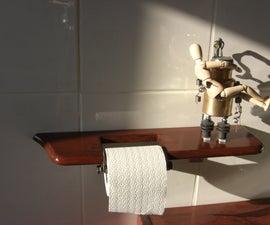 Toiletpaper Holder made from Scrap/Scrapwood