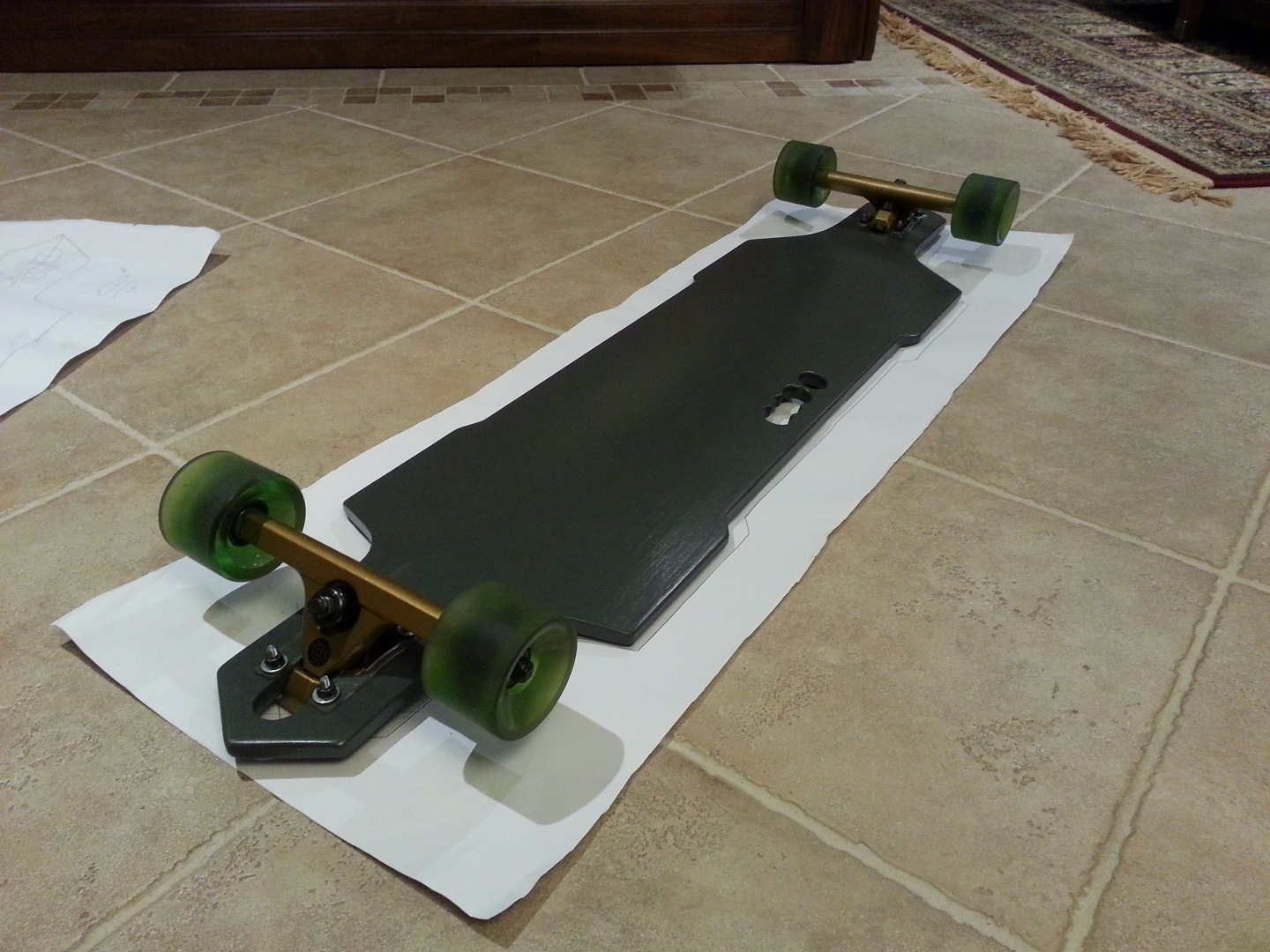 Picture of Apply Grip Tape and Attach Your Wheels and Your Trucks!