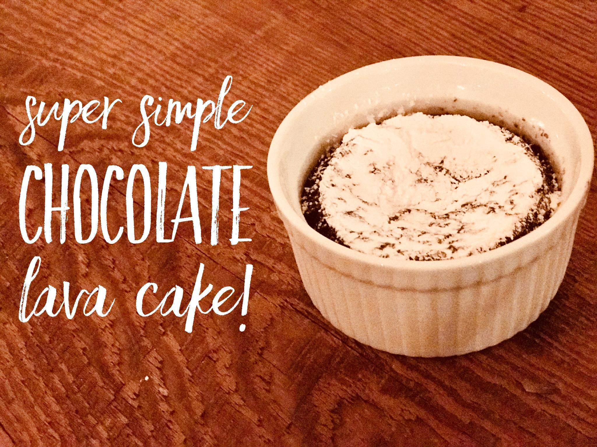 Picture of Super Simple Chocolate Lava Cake!