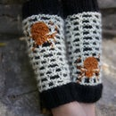 Webbed Legwarmers, by Vickie Howell for Bernat
