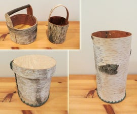 Birch Baskets and Containers