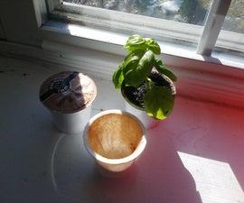 Reuse K-Cups as seed starters