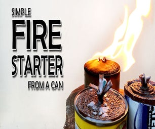 Simple Cardboard Fire Starter From a Tuna Can(Video)