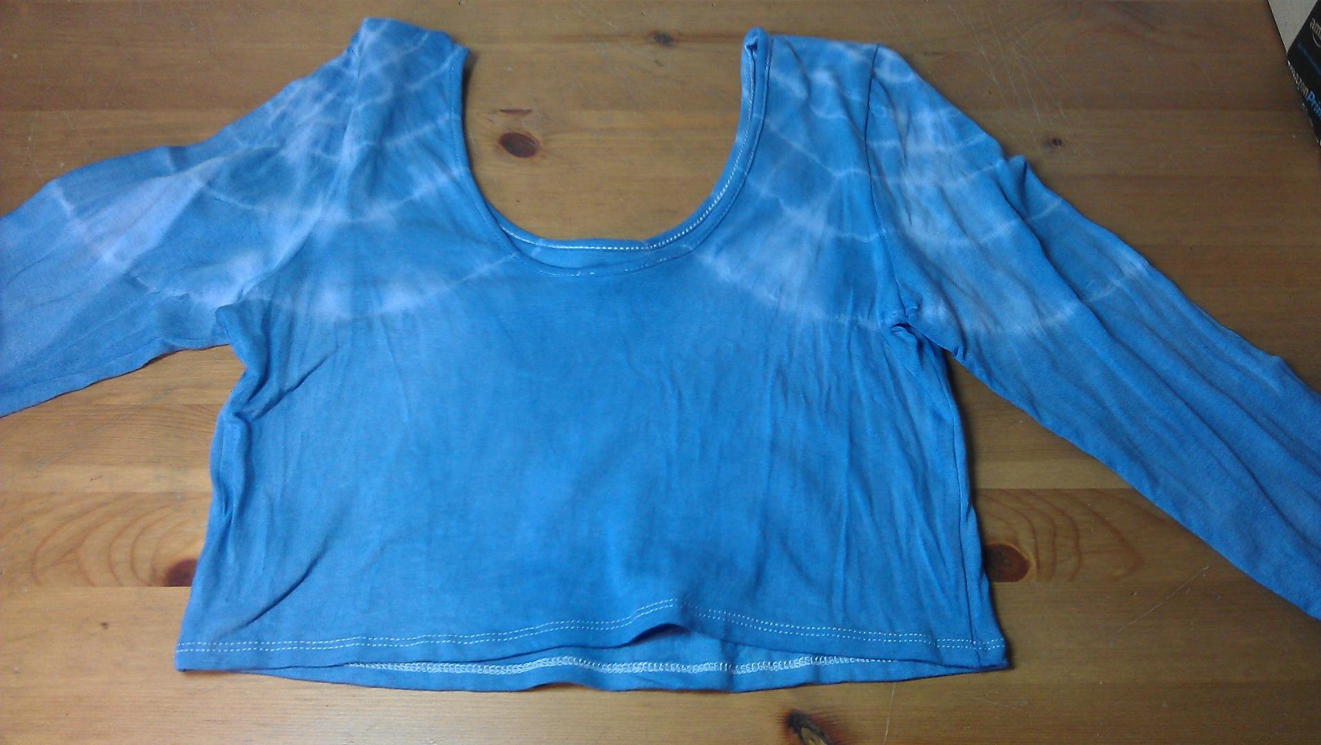 Picture of Shoulder Tie-Dye Crop Top