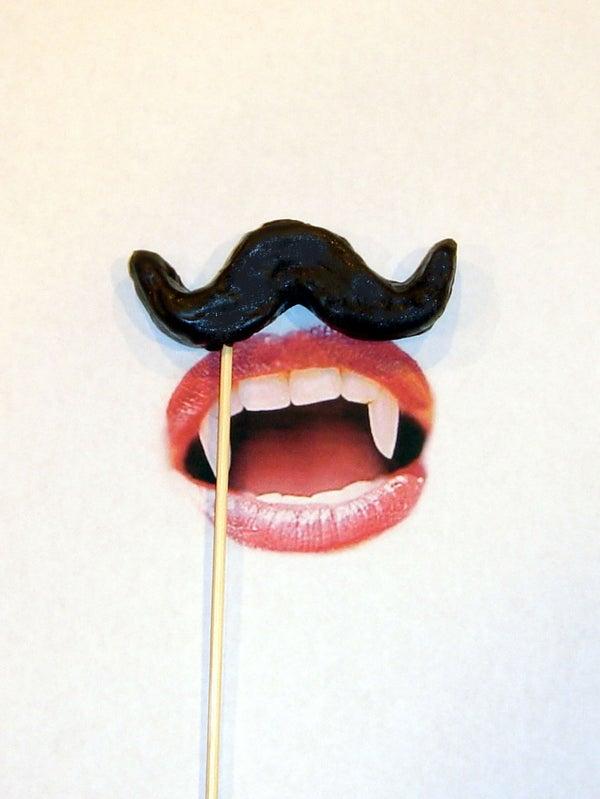 Mustache Rides on a Stick