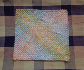 Weaving a Table Mat With Home-made Square Loom