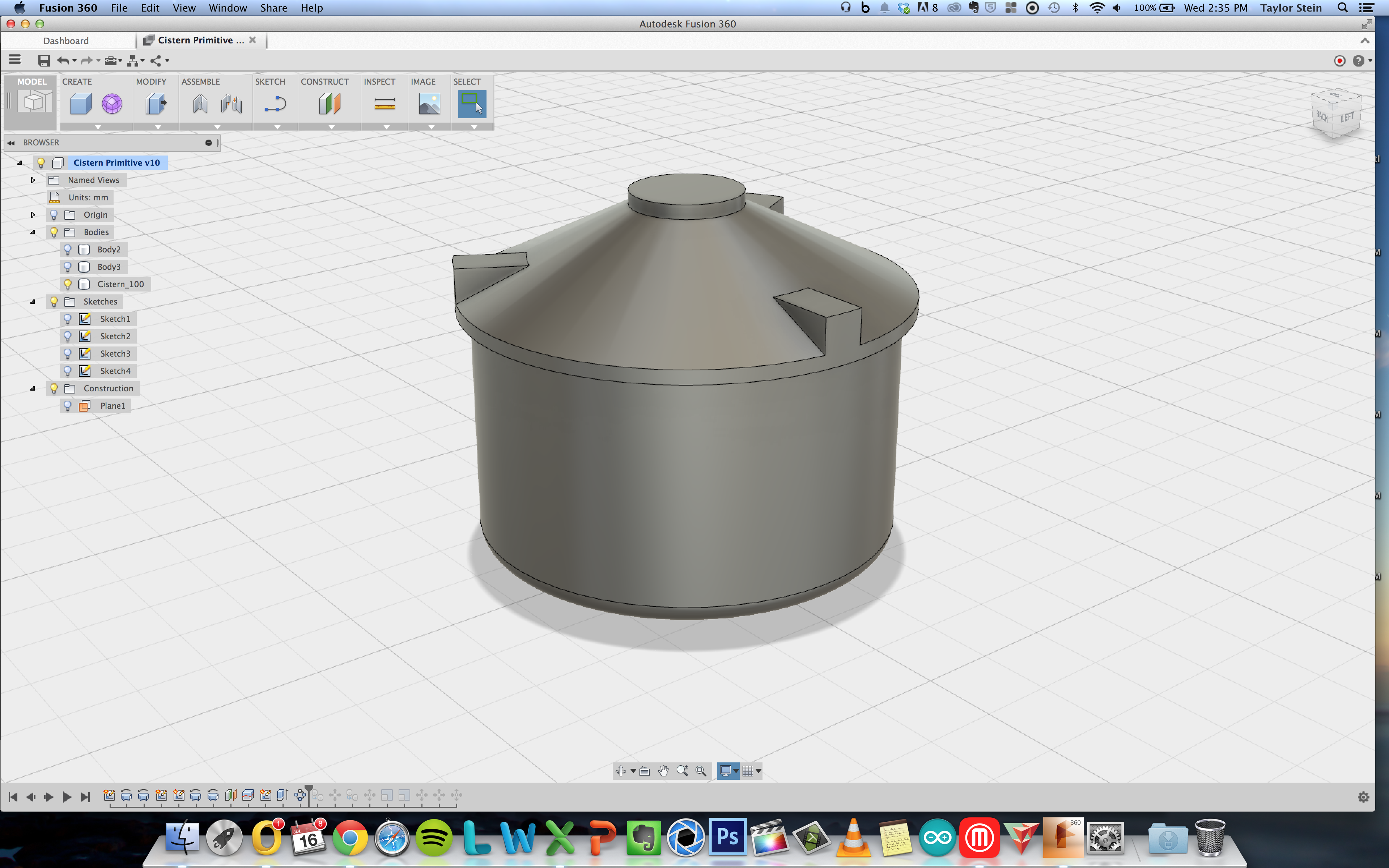 Picture of Model in Fusion 360