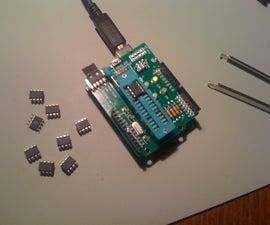 Hacking an Arduino ISP Shield for AtTiny45 / AtTiny85